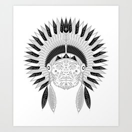 Snapped Up Market - Cowboys & Indians Art Print