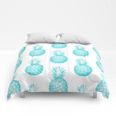 Teal Pineapple Comforters