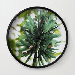 Flor azul Wall Clock