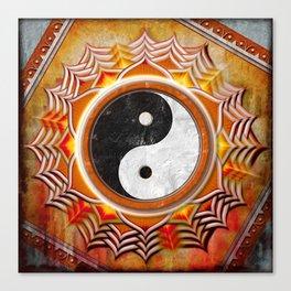 Yin Yang - Healing Of The Orange Chakra Canvas Print