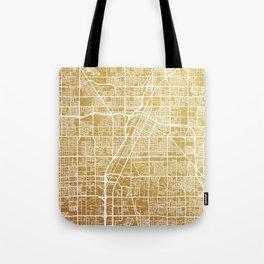 Gold Las Vegas map Tote Bag