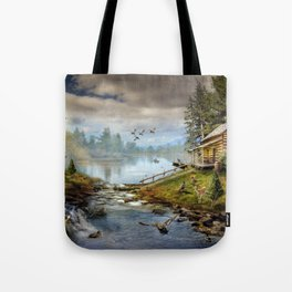 Wildlife Landscape Tote Bag