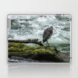 Great Blue Heron on the McKenzie, No. 1 Laptop & iPad Skin