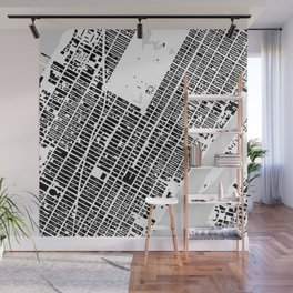 New York building city map Wall Mural
