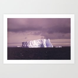 iceberg adrift Art Print