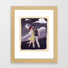 Moonlight Kiss Framed Art Print