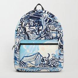 Vincent van Gogh - Old Vineyard with Peasant Woman - Digital Remastered Edition Backpack