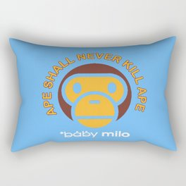 Baby Milo Ape Blue Rectangular Pillow