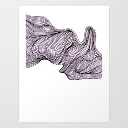 Abstract organic line drawing doodle 4 Art Print