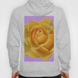 YELLOW GARDEN ROSE ON LILAC Hoody