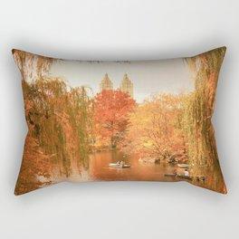 Central Park New York City Autumn Rectangular Pillow