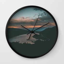 Columbia River Gorge Sunset Wall Clock