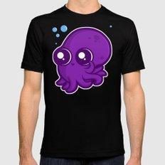 Super Cute Squid Black Mens Fitted Tee MEDIUM