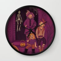 nori Wall Clocks featuring Ri Brother Pirates by MelColley