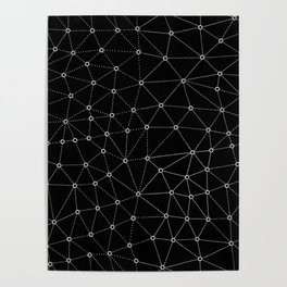 African Triangle Black Poster