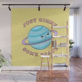 Just Gimme Some Space - Yellow & Blue Wall Mural