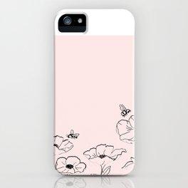 Poppies & Honeybees iPhone Case