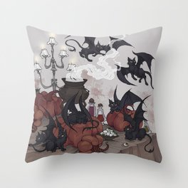 Samhain Kittens Throw Pillow