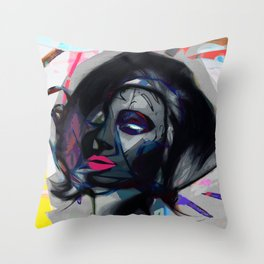 Seduced by colour Throw Pillow