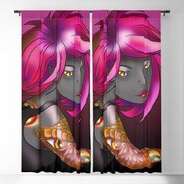 Dark elf in shades of pink Blackout Curtain
