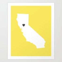 California Love in Lemon Art Print