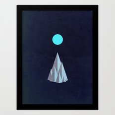 Minimal Mountains Art Print