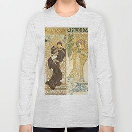 "Alphonse Mucha ""Théâtre de la Renaissance: Lorenzaccio / Gismonda"" Long Sleeve T-shirt"
