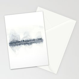 The Mountains in Winter Stationery Cards