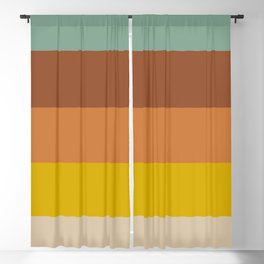 Classic Muted Retro Stripes Blackout Curtain