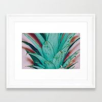 pinapple Framed Art Prints featuring Pinapple by 83 Oranges™