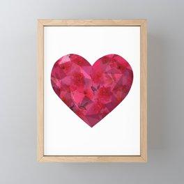 Abstract 3D Heart Framed Mini Art Print