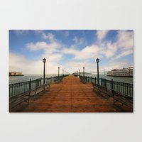 boardwalk empire Canvas Prints featuring boardwalk by Wil Zoetekouw