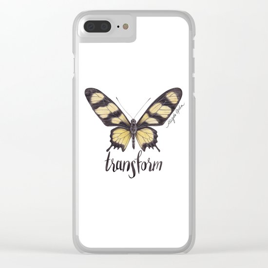 Butterfly - Hahnel's Amazonian Swallowtail - PARIDES HAHNELI By Magda Opoka Clear iPhone Case