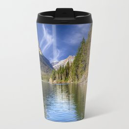 St Mary's Lake - Glacier National Park, Montana Travel Mug