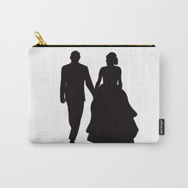 Wedding Couple Silhouette Design For Weddings Carry-All Pouch