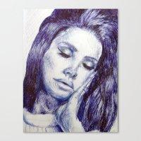 celebrity Canvas Prints featuring Celebrity portrait by Megan