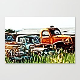 Trucking around Canvas Print