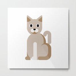 Minimalistic wildlife 03 –Cat Metal Print