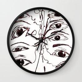 Cross Fire (Courageous Conversations) Wall Clock