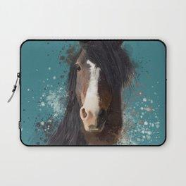 Black Brown Horse Artwork Laptop Sleeve