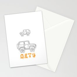Funny Off Road 4X4 Mudding Jeep Stationery Cards