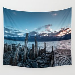 Alaskan Mountain Dawn VI Wall Tapestry