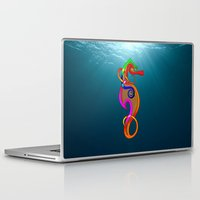 psychadelic Laptop & iPad Skins featuring Psychadelic Seahorse Knot by Knot Your World