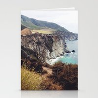 big sur Stationery Cards featuring Big Sur by Holly