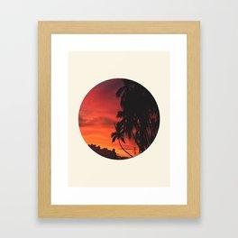 Beautiful Red & Orange Tropical Sunset Framed Art Print