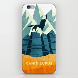 Canis Lupus: What a beautiful creature. I have a Phobia of Wolves. iPhone Skin