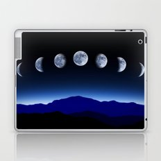 Moon Phases #blue Laptop & iPad Skin