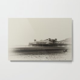 Weston-Super-Mare Beach Metal Print