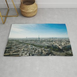 Paris France and Eiffel Tower by day time Rug