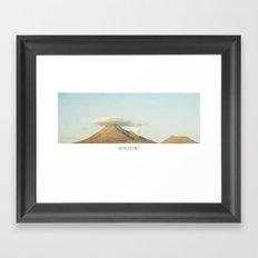 HIGH PLAIN Framed Art Print